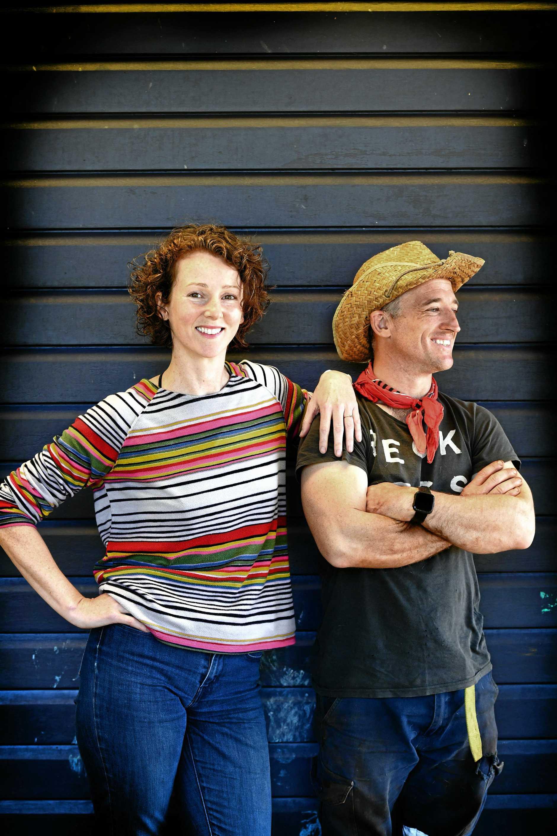 Christy Shelper and DJ Garner left the high flying life of a international circus performer for the rewarding world of organic farming.