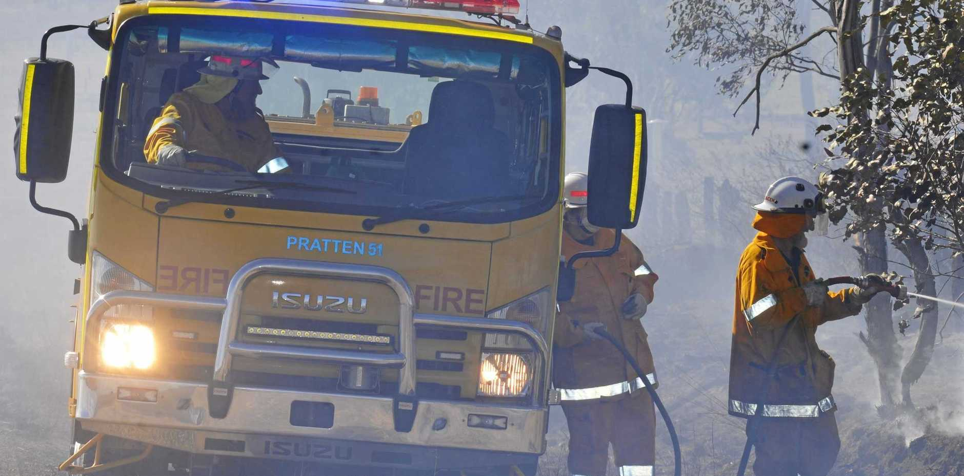 Firefighters are working hard to control a large bushfire outside of Kilkivan.
