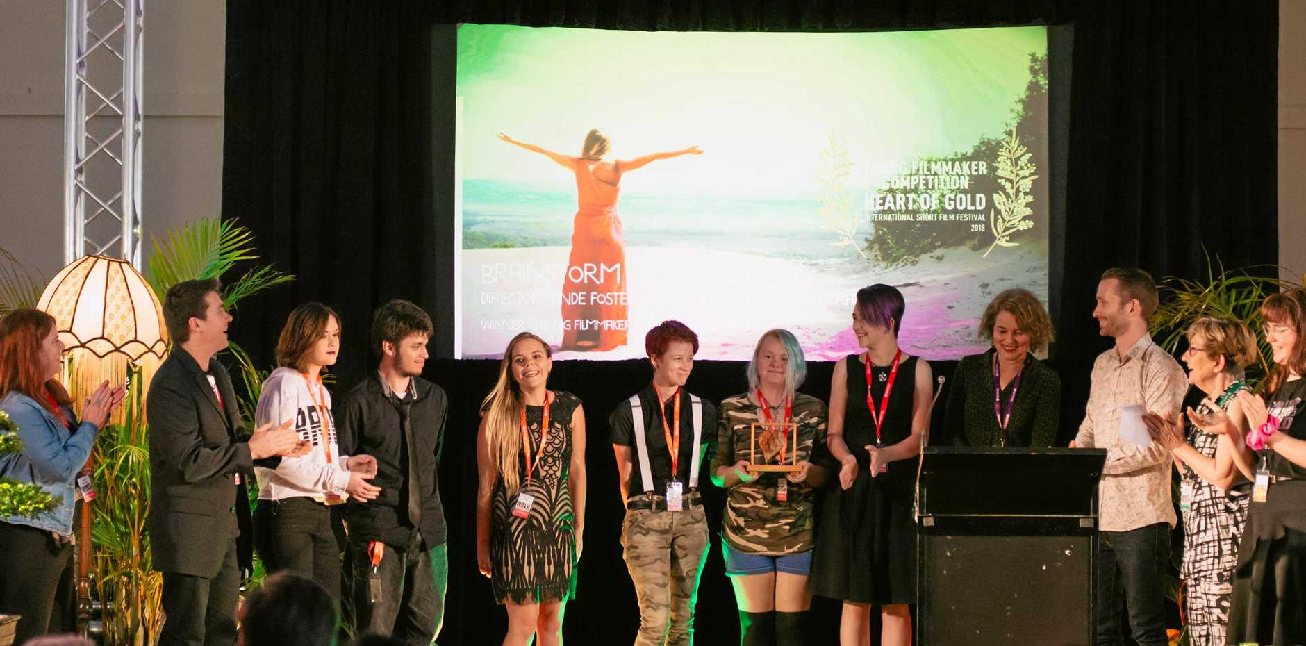 The short film Brainstorm produced by students from Gympie Flexible Learning Centre won Heart of Gold's 2018 Regional and  National Young Filmmakers Prize .