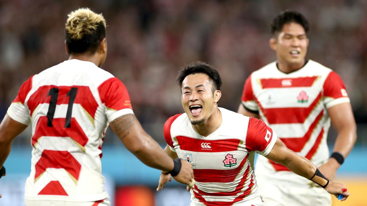 Japan stunned the rugby world with its epic upset of Ireland. Picture: Getty