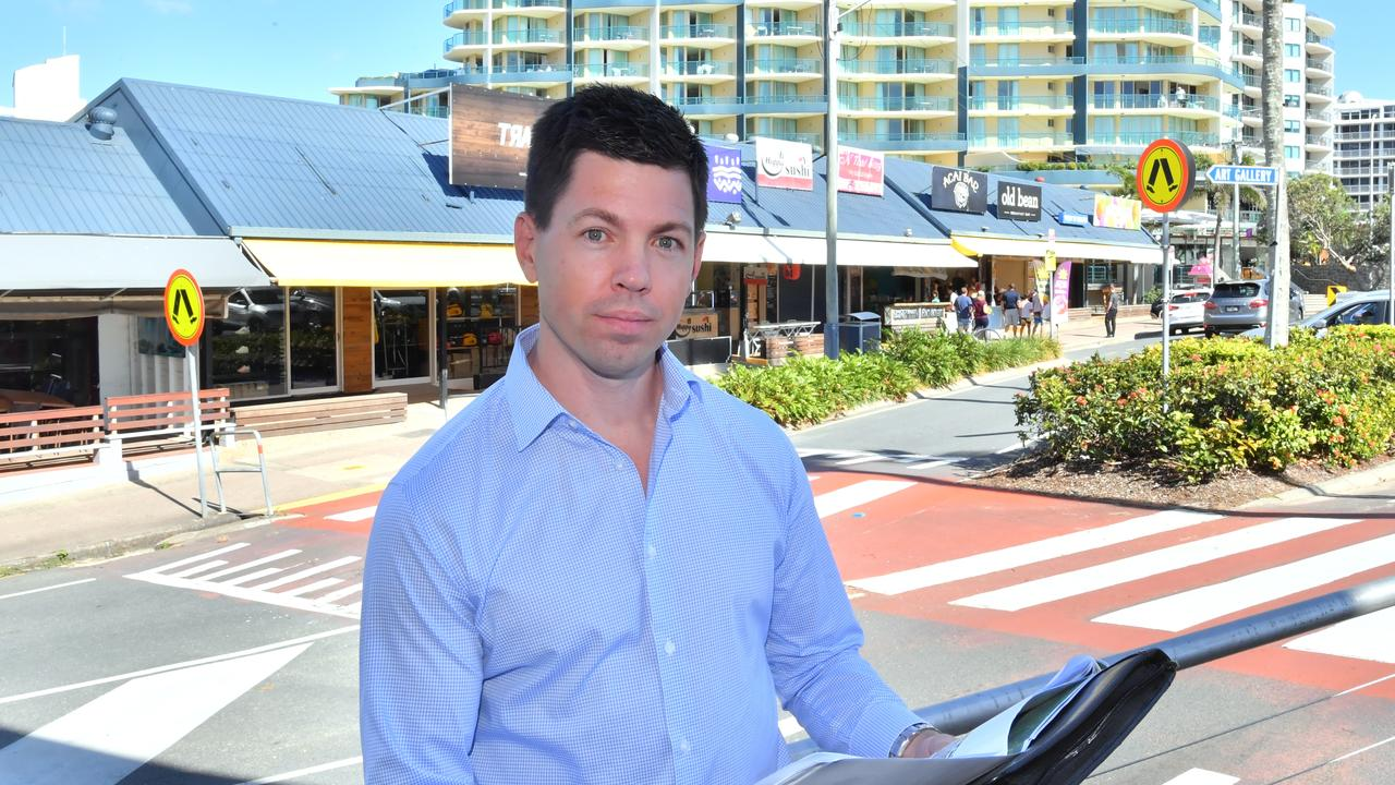 IT'S A PLAN: Aria's 1 The Esplanade project manager Michael Hurley in Mooloolaba. Photo: John McCutcheon / Sunshine Coast Daily