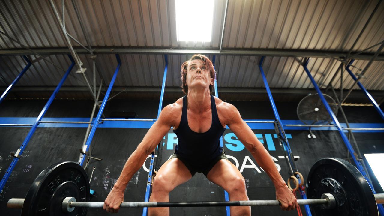 Kirsten Mckessar doing crossfit at Crossfit Cap Coast.