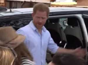 Prince Harry filmed snapping at reporter