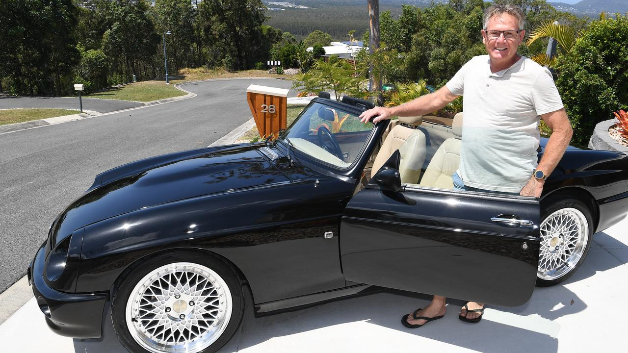 Noel Higgins is the owner of a Rover MG RV8 sports car.