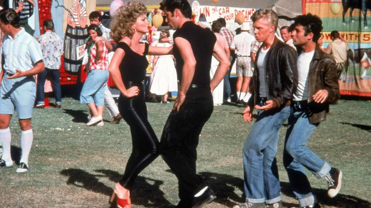 Olivia Newton-John and John Travolta in the 1978 film Grease. Picture: Supplied