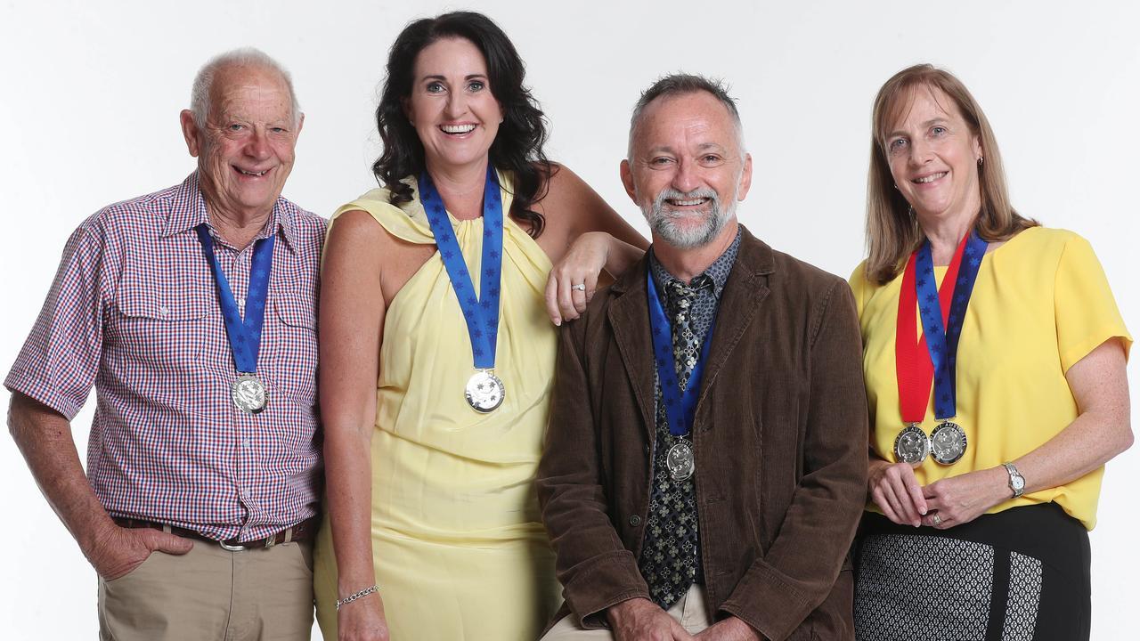 Pride of Australia medallists Lex Petersen, Rochelle Courtenary, Dr John Hadok and Vanessa Fowler. Photo: Tara Croser