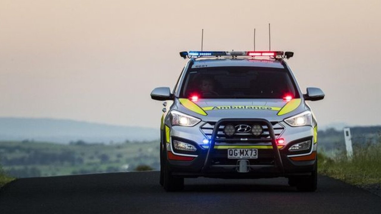 A young man was treated by paramedics after crashing his motorbike near Clermont on Monday night.