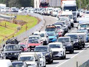 Bruce Highway 'car park' after major crash
