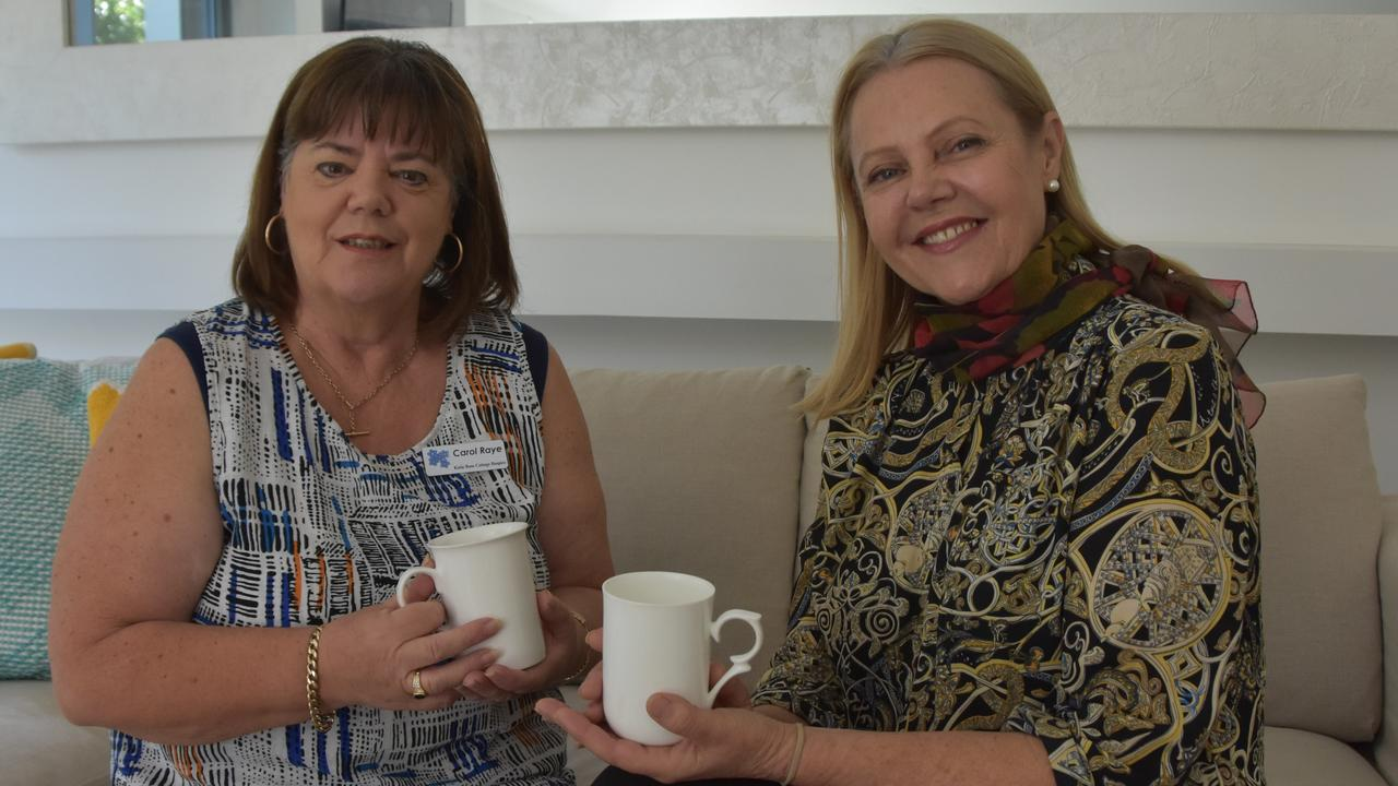 REOPEN: Katie Rose Cottage Hospice chairperson Carole Raye and Noosa MP Sandy Bolton announce 24/7 hospice care will resume on October 14. Photo: Caitlin Zerafa