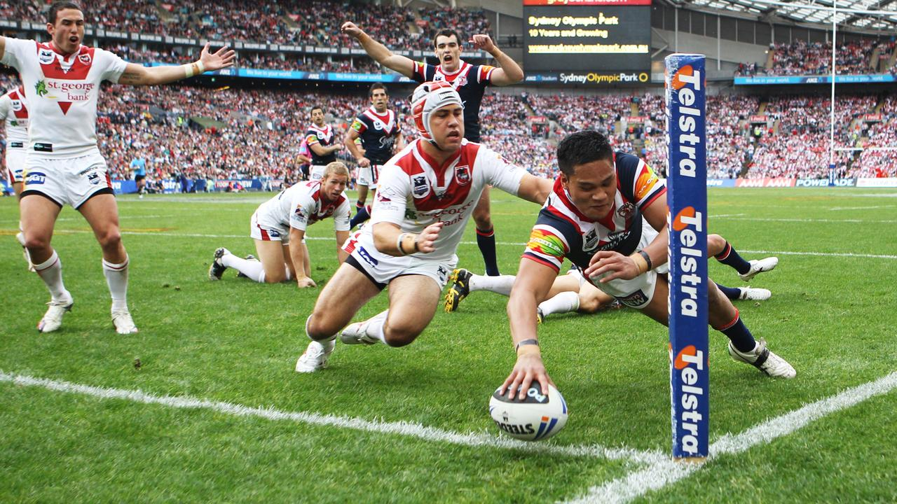 Joey Leilua lost his first grand final to the Dragons in 2010 in his rookie season for the Roosters.