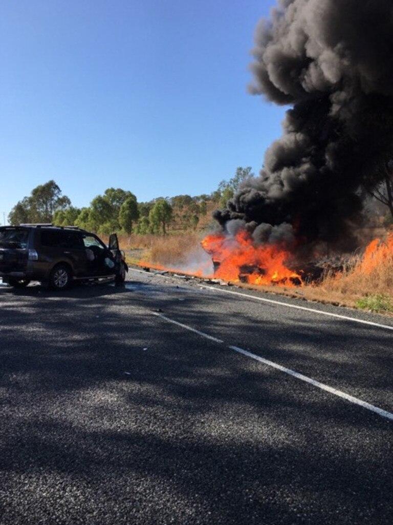 A serious crash at Kilkivan