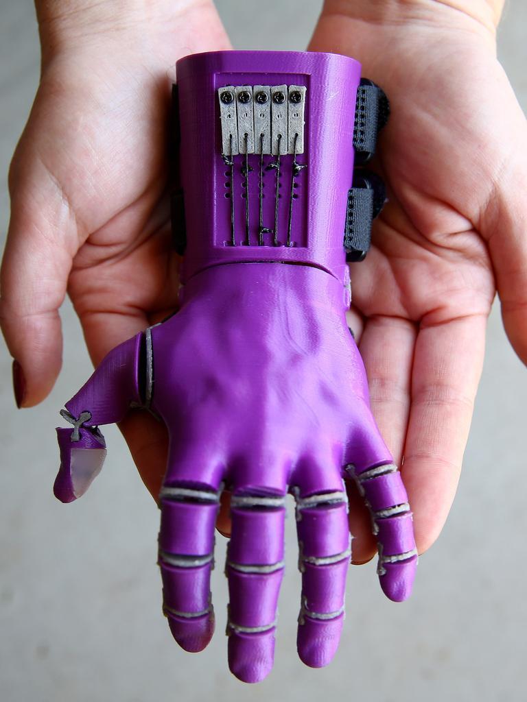 Izabella's hand. Photo: Adam Head