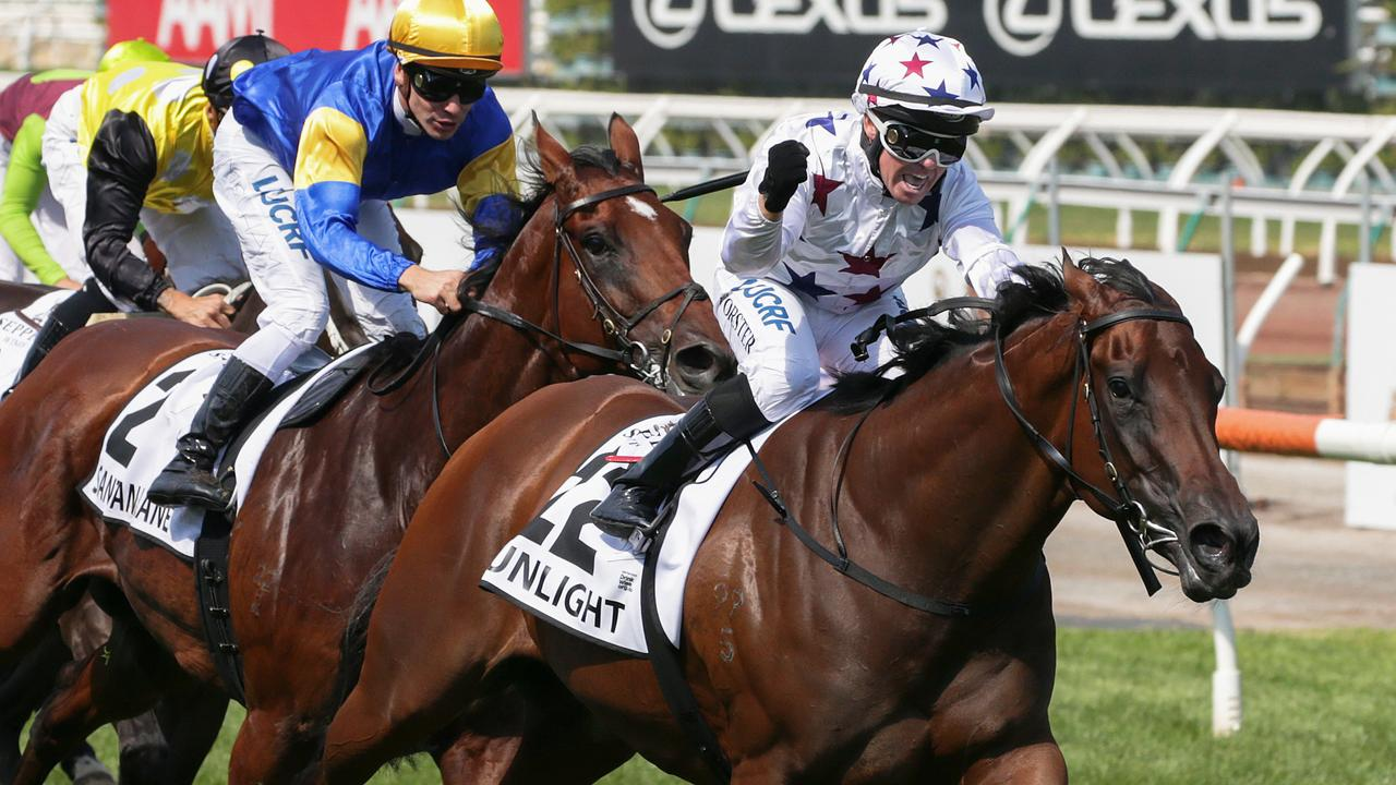 Can Sunlight repeat her Newmarket Handicap performance down the home straight.