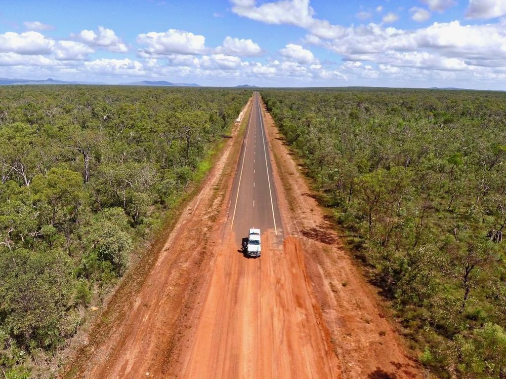 Heading north on the Peninsula Development Road from Coen to the Archer River Roadhouse. Picture: Scott Harris