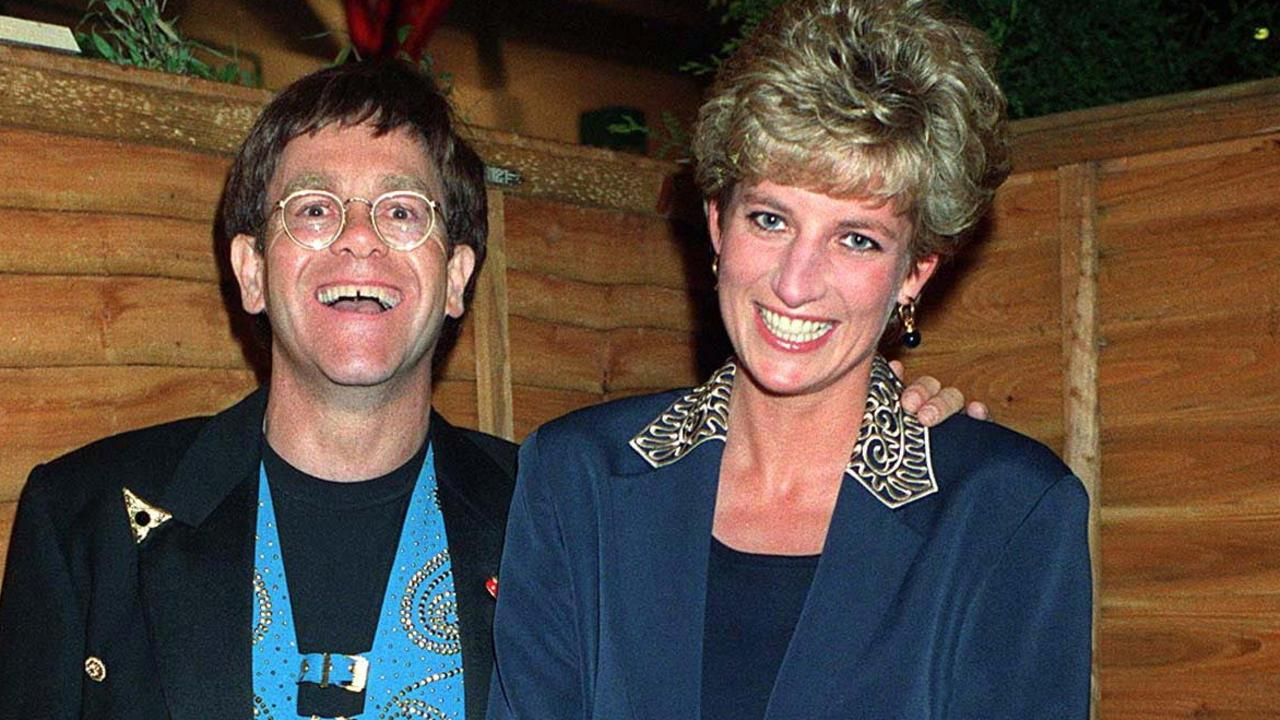 Princess Diana with Elton John. Picture: Richard Young / Rex Features