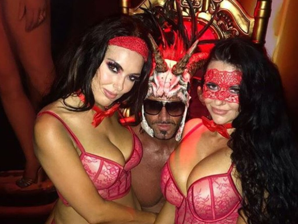 Travers Beynon and guests at one of his annual Candy Shop Mansion parties.