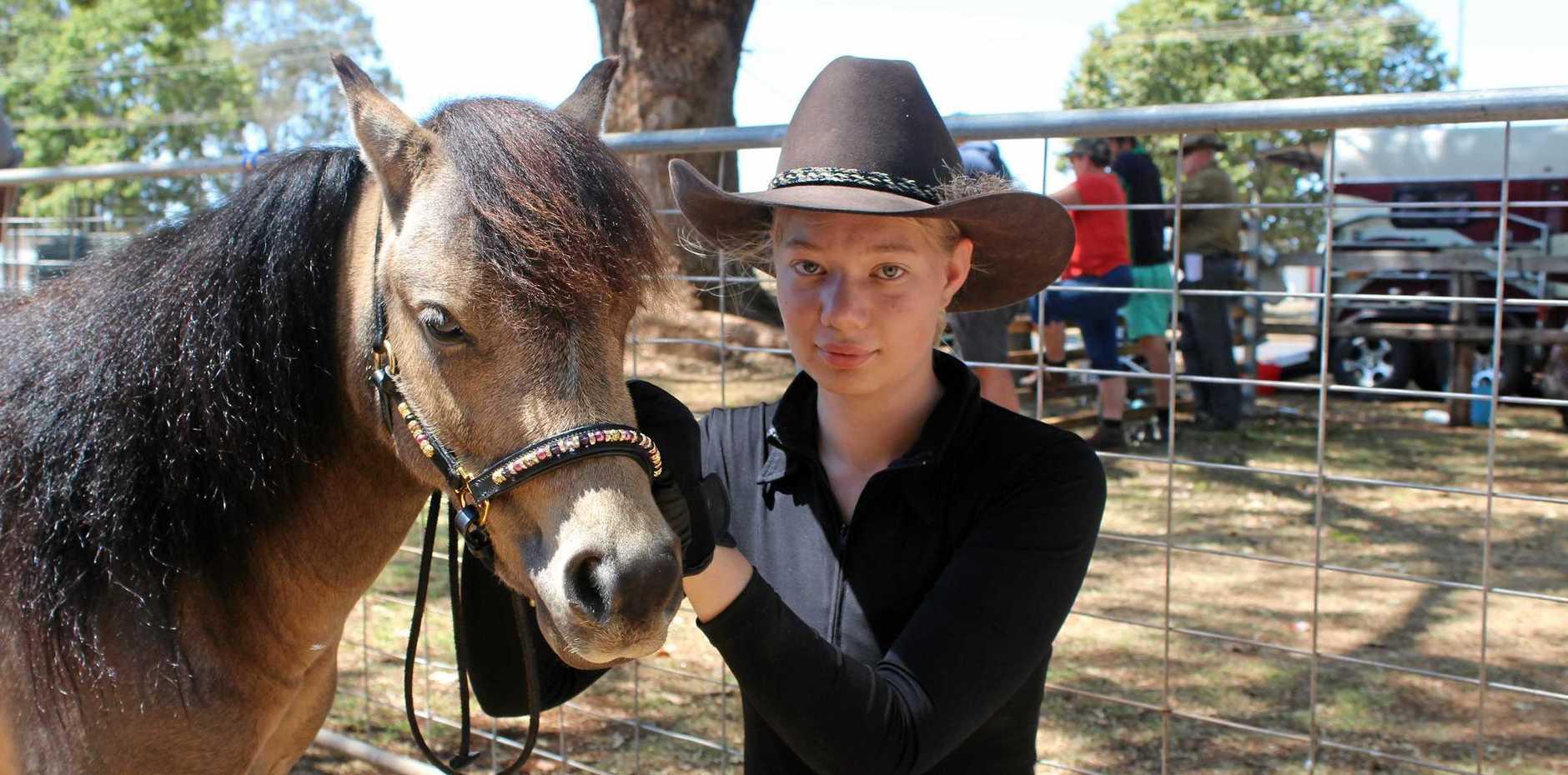 Wondai'd Madison Wecker with her pony Jen Rowan Sovereign.