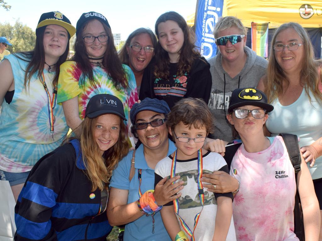Skye Stead, Melanie and Patricia Howard, Kayla Poole, Tara Morgan, Marina O'Reilly, Telisha and Sky-Lee Howard, Daniel Poole and Trudy Mansell at the CQ Fair Day