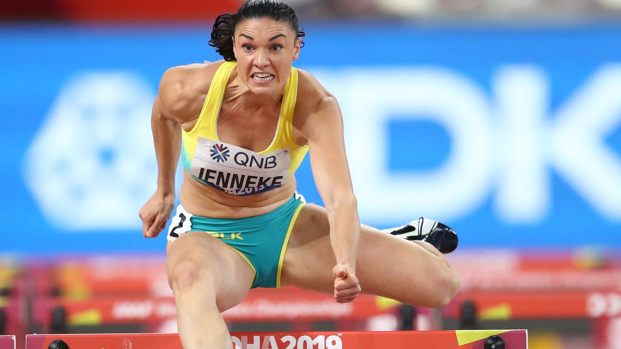 Michelle Jenneke got through a tough heat to make the semifinals.