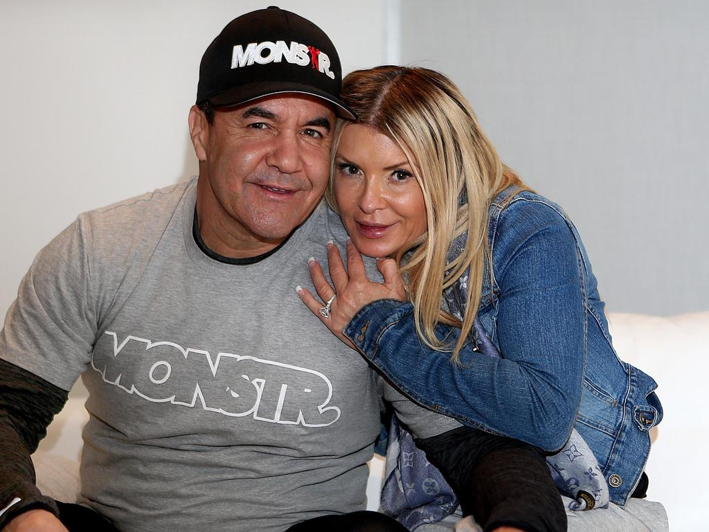 Former boxer Jeff Fenech, pictured with wife Suzee, is battling pneumonia and a lung infection after becoming critically ill in Thailand.