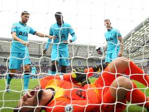 Spurs keeper suffers gruesome arm injury