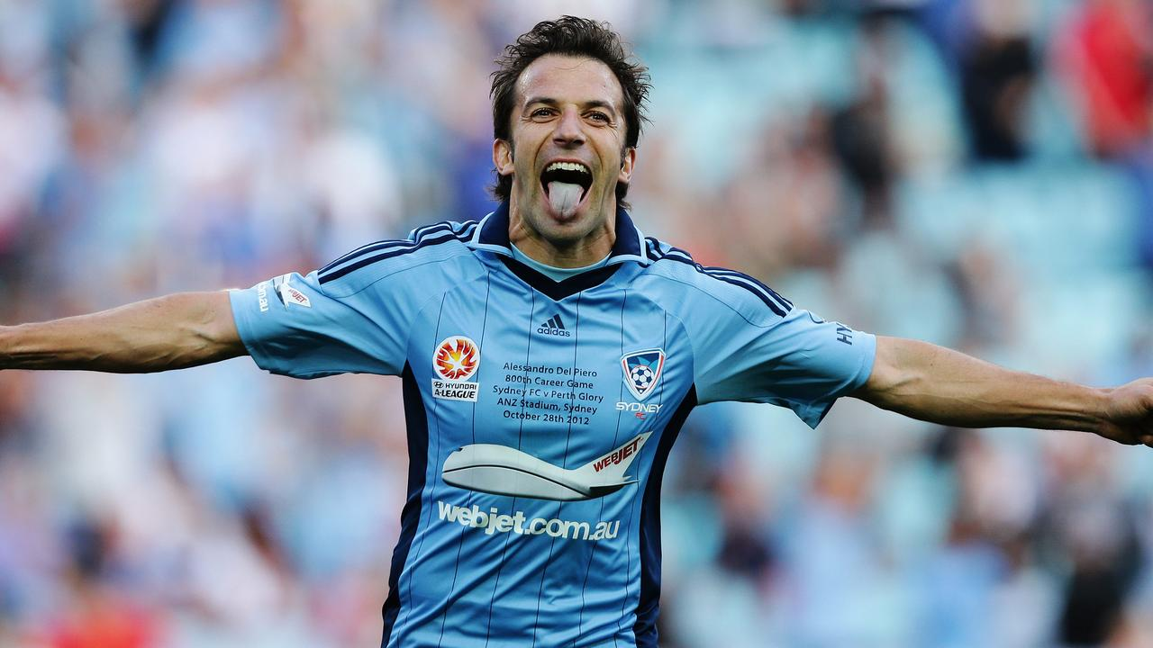 Sydney FC's signing of Italian superstar Alessandro Del Piero brought global attention to the A-League. Picture: Brett Costello