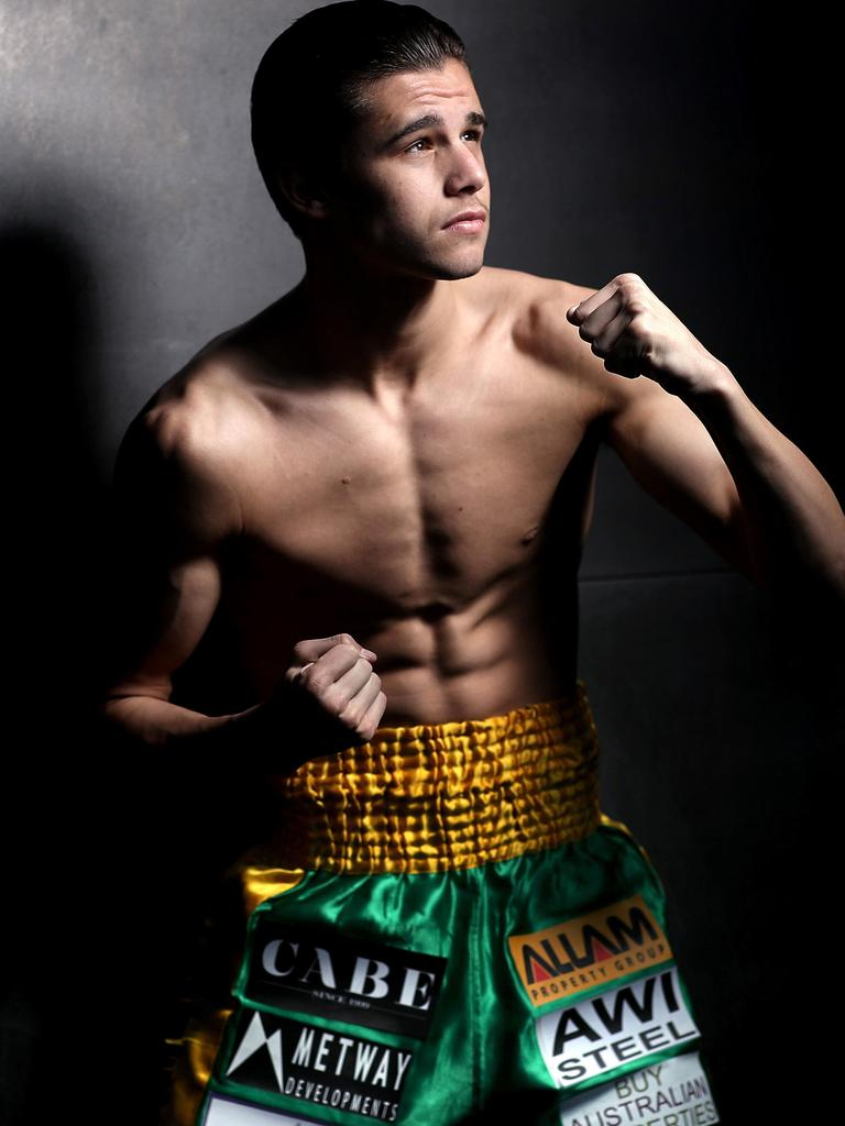 Fenech travelled to Thailand for a training camp with boxer Brock Jarvis. Picture. Phil Hillyard