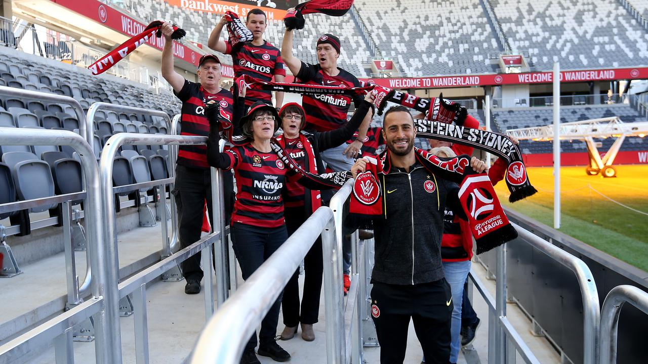 Bankwest Stadium, including its safe standing area, is an excellent addition to the A-League's venues. Picture: Toby Zerna