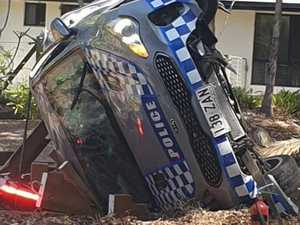 Police officer injured as patrol car crashes