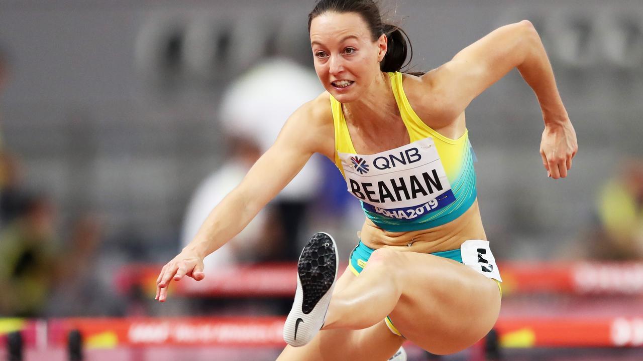 Brianna Beahan ran 13.14 in her heat.