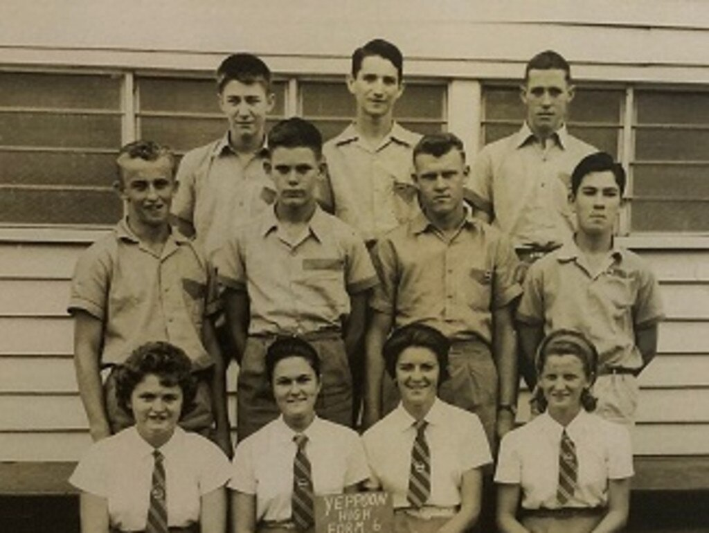 Yeppoon High Seniors 1963: L-R Front Row Pam Carte, Mavis May, Marion Jackson, Nada GodberL-R Middle RowScott McLellan, John Green, Graham Lederhose, Robert HayhoeL-R Back RowDavid Hower, Jeffrey Rhoder, David Goodwin