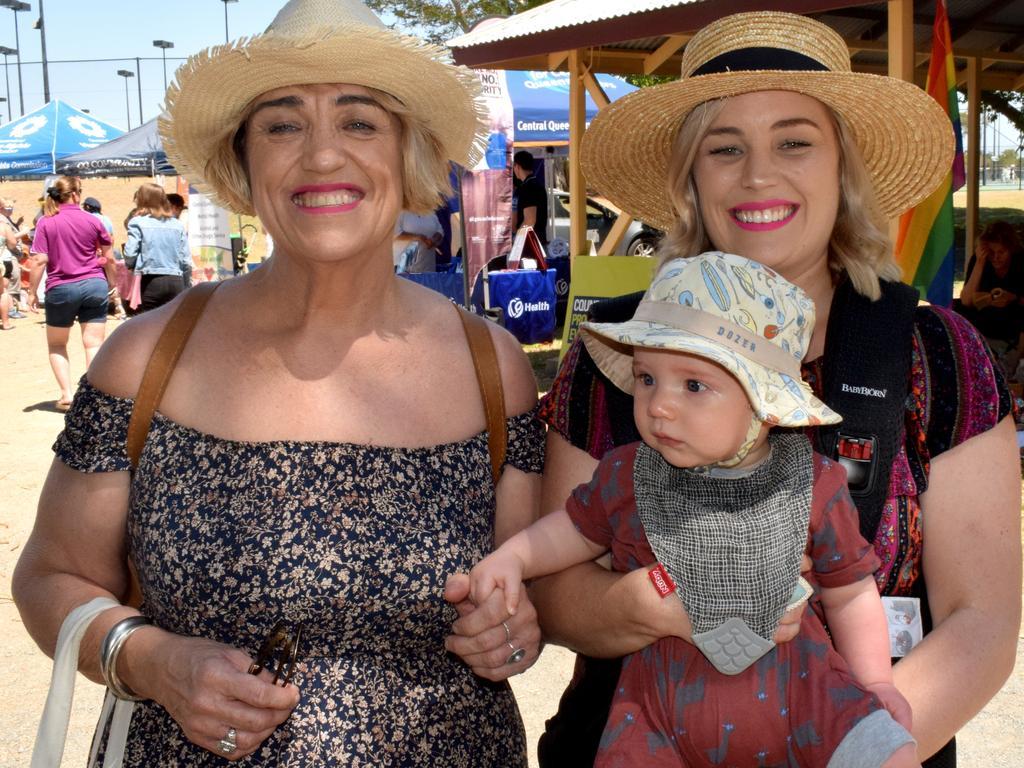 Jacinta Cumming with Nash and Brooke Walls at the CQ Fair Day