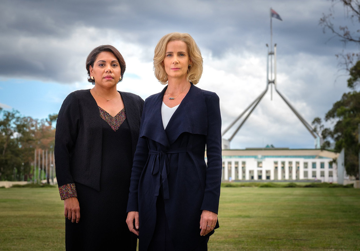 Deborah Mailman and Rachel Griffiths star in the TV series Total Control. Supplied by ABC-TV.