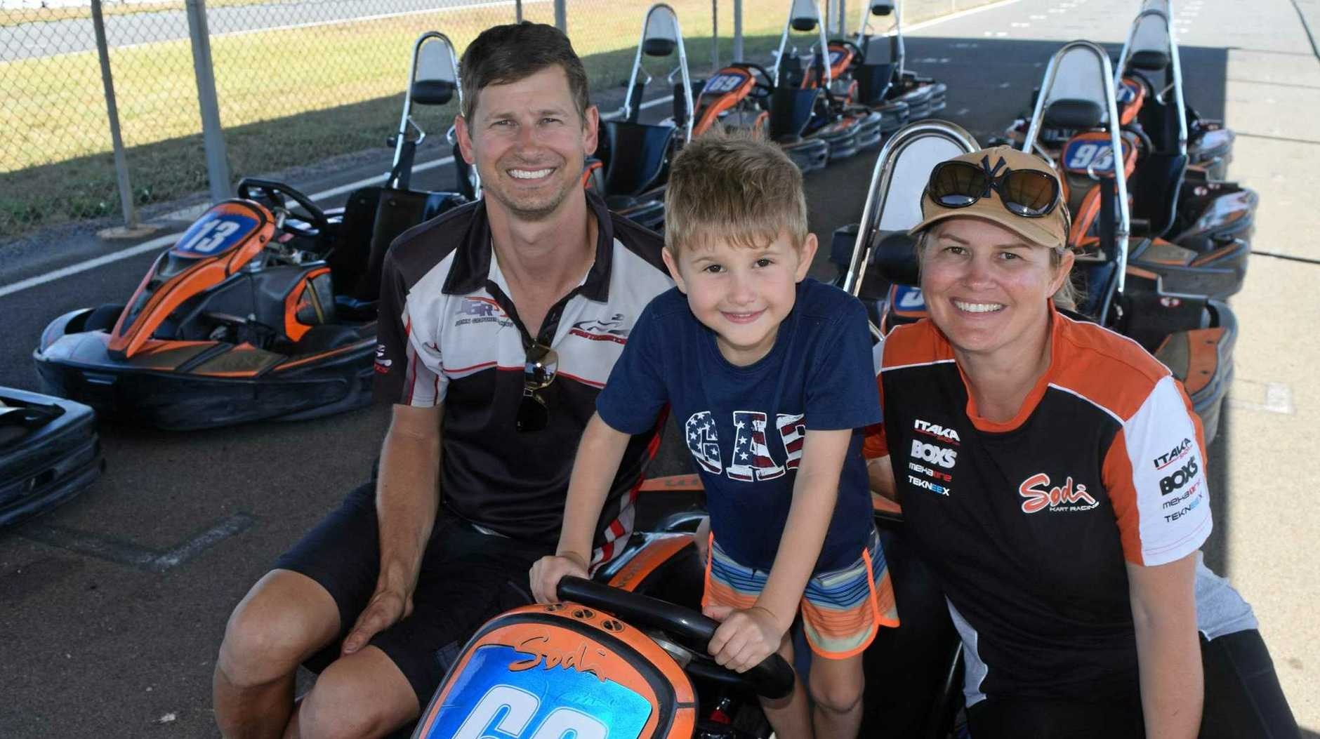 Johnny Grother, Carter Grother, 6, and Kellie Grother visted the Whitsundays with Fastkarts.