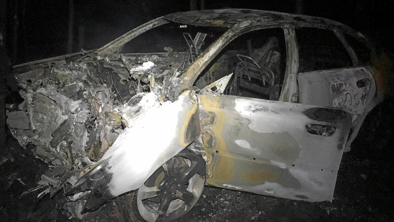 DEVASTATION: A woman was critically injured in a crash near Gympie on Friday night.