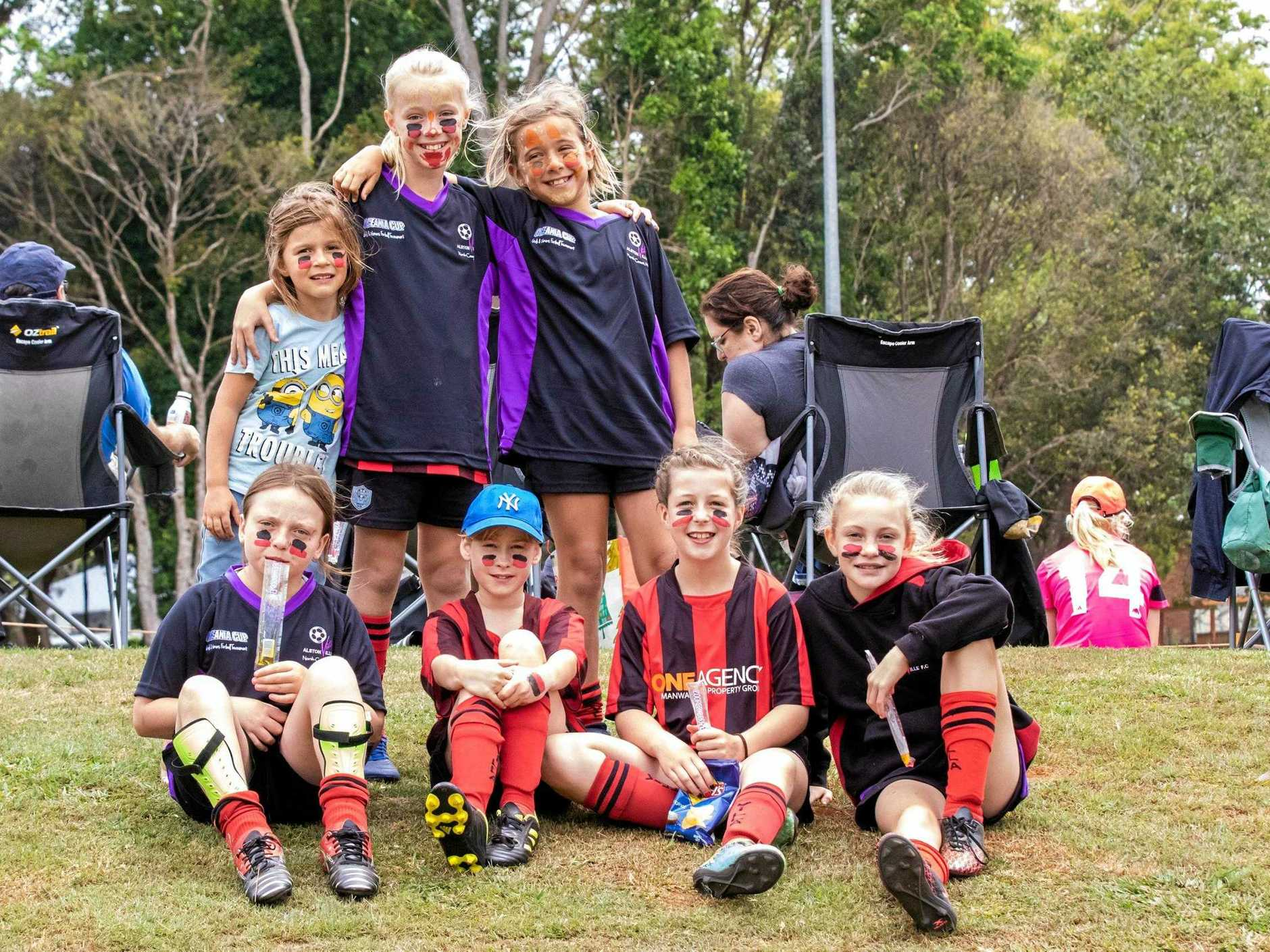 Villa Leopards 12s at the Oceanic Cup at Alstonville on Sunday.Zadie Zubani, Lilly Brucke, Ziggy Zubani, Heidi Hume, Nesli Adams, Sophia Southwell, Camryn Anderson, and Izzy Slater.