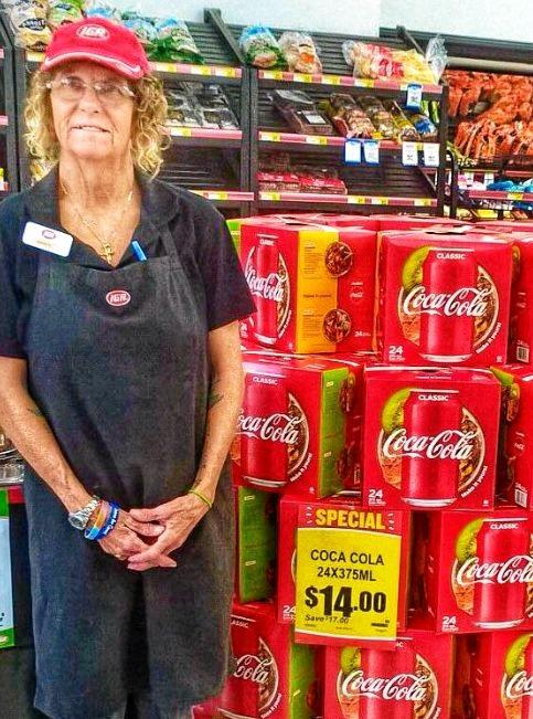 SOCIAL MEDIA IMAGE DISCUSS USE WITH YOUR EDITOR - FOREVER REMEMBERED: Tributes are pouring in for much-loved and respected Tin Can Bay IGA retail assistant Karen Taylor who died last Wednesday night from a heart attack.