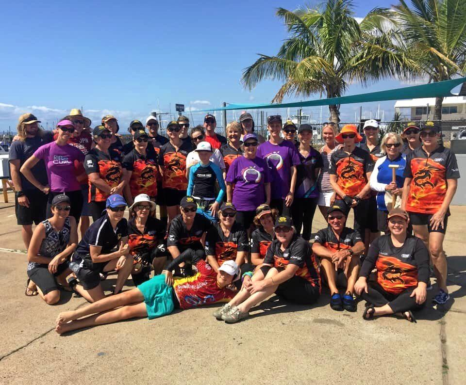 Hervey Bay Dragons Boat Club hosted a 'Come and try day' and raised awareness of Mental Health Week on Sunday.