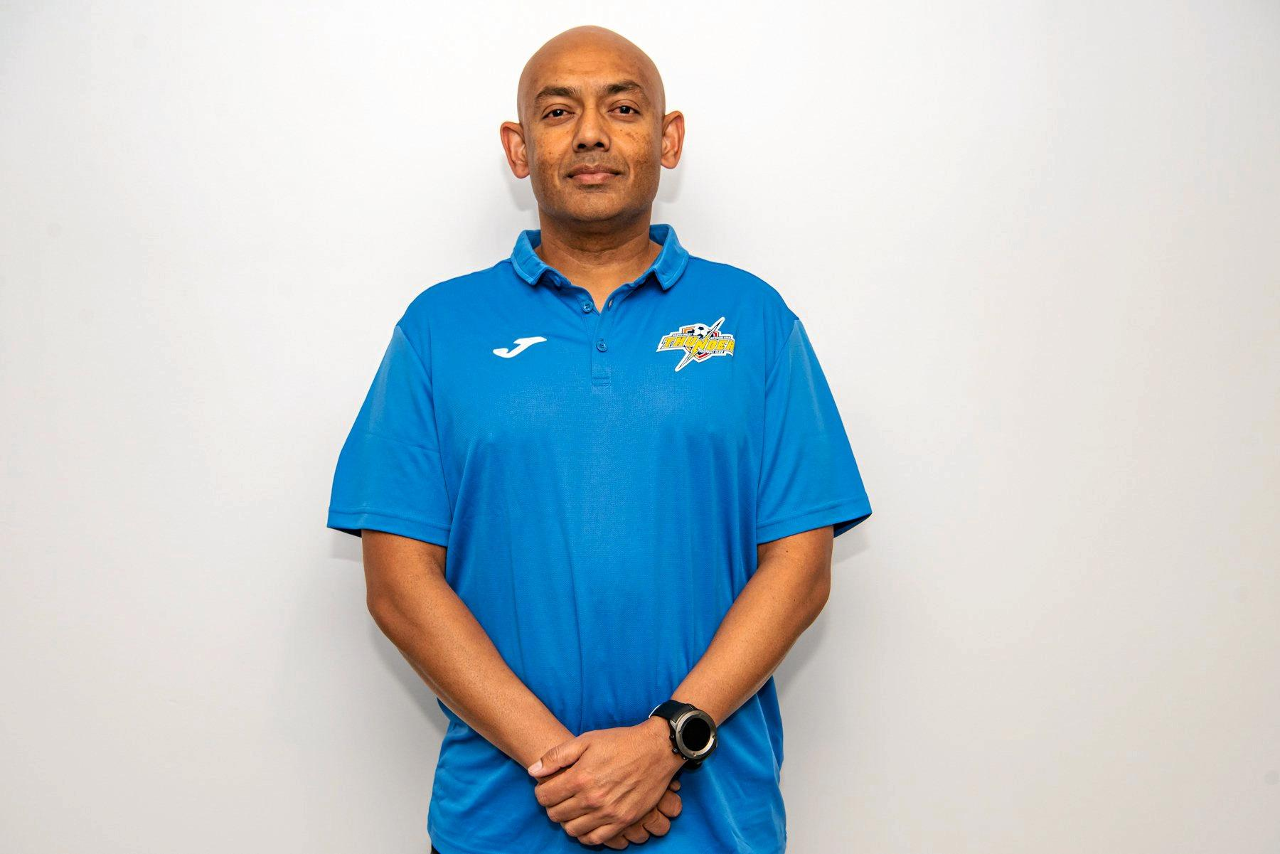 New South West Queensland Thunder coach Ivor Prasad.