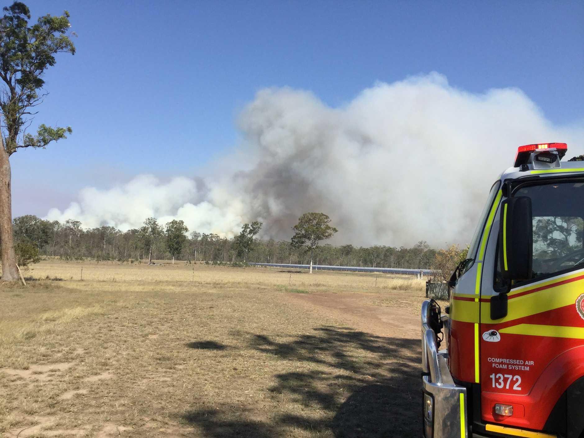 The scene of a bushfire at Cherwell.