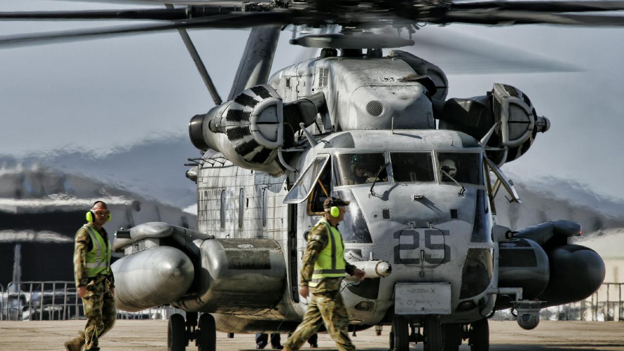 A US Marine Corps CH-53 Sea Stallion.