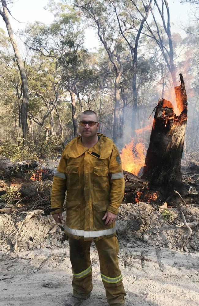 Adrian Reynolds fought the fires near Rockhampton on Monday.