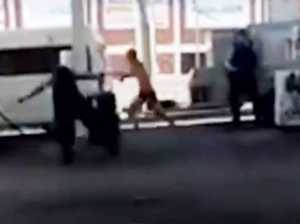 Cops chased by alleged knifeman