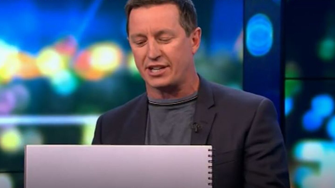 Rove McManus' drawing was directed at Steve Price. Picture: The Sunday Project