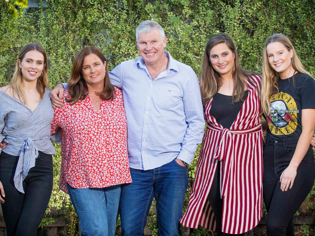 Danny Frawley with his family.