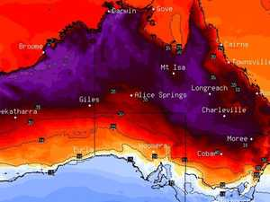 Weather map turns freakish purple colour
