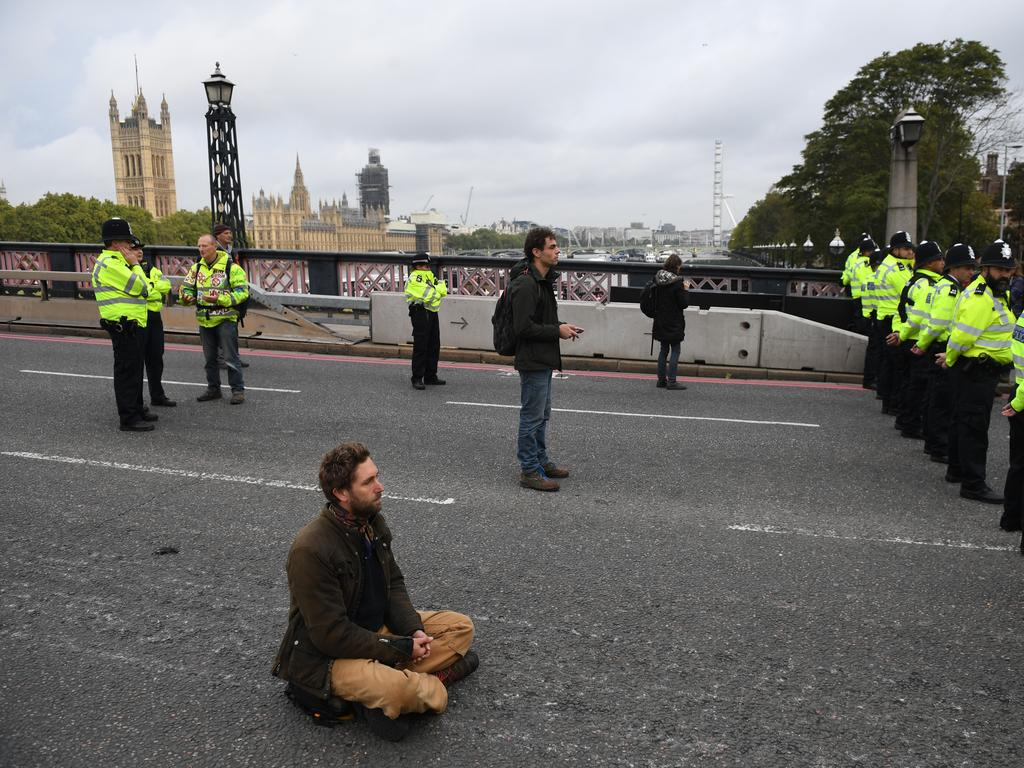 The group aims to remain peaceful. Picture: Chris J Ratcliffe/Getty Images.