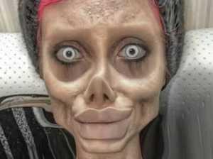 'Zombie' Angelina Jolie lookalike arrested