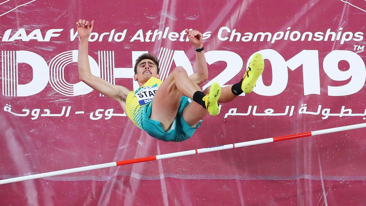 Brandon Starc finished sixth in the high jump final. Picture: Richard Heathcote/Getty