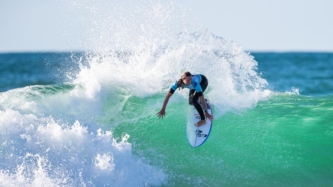 HOSSEGOR, FRANCE - OCTOBER 3: Keely Andrew of Australia advances directly to Round 3 of the 2019 Roxy Pro France after winning Heat 4 of Round 1 at Le Culs Nus on October 3, 2019 in Hossegor, France. (Photo by Damien Poullenot/WSL via Getty Images)